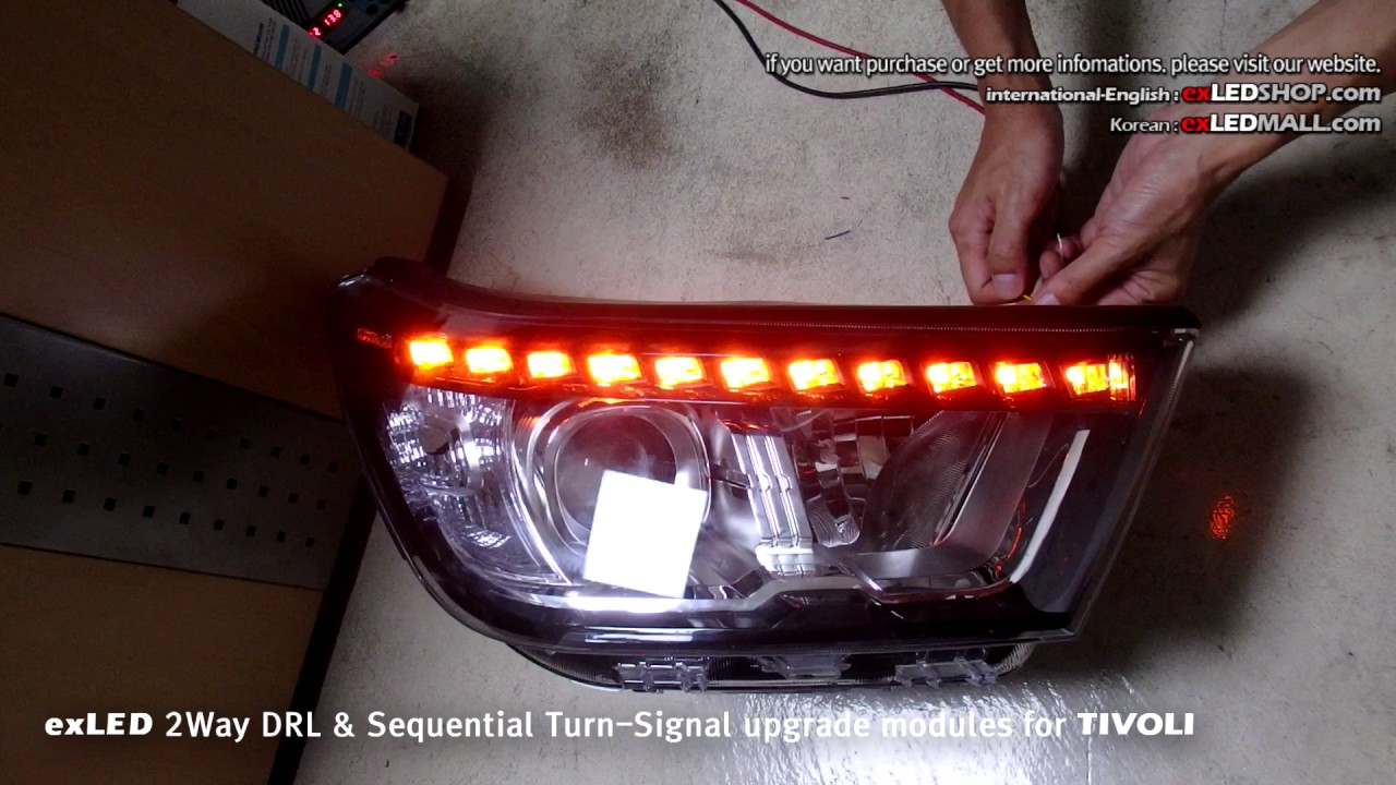 exled 2way drl sequential turn signal upgrade modules for tivoli [ 1280 x 720 Pixel ]