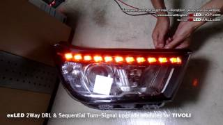 exLED 2Way DRL & Sequential Turn-Signal upgrade modules for TIVOLI