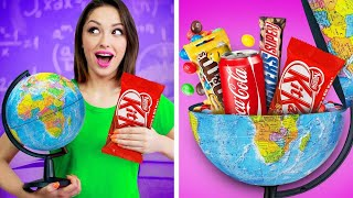 10 Weird Ways To Sneak Food Into Class! Funny Food Tricks and Edible DIY School Hacks by RATATA!