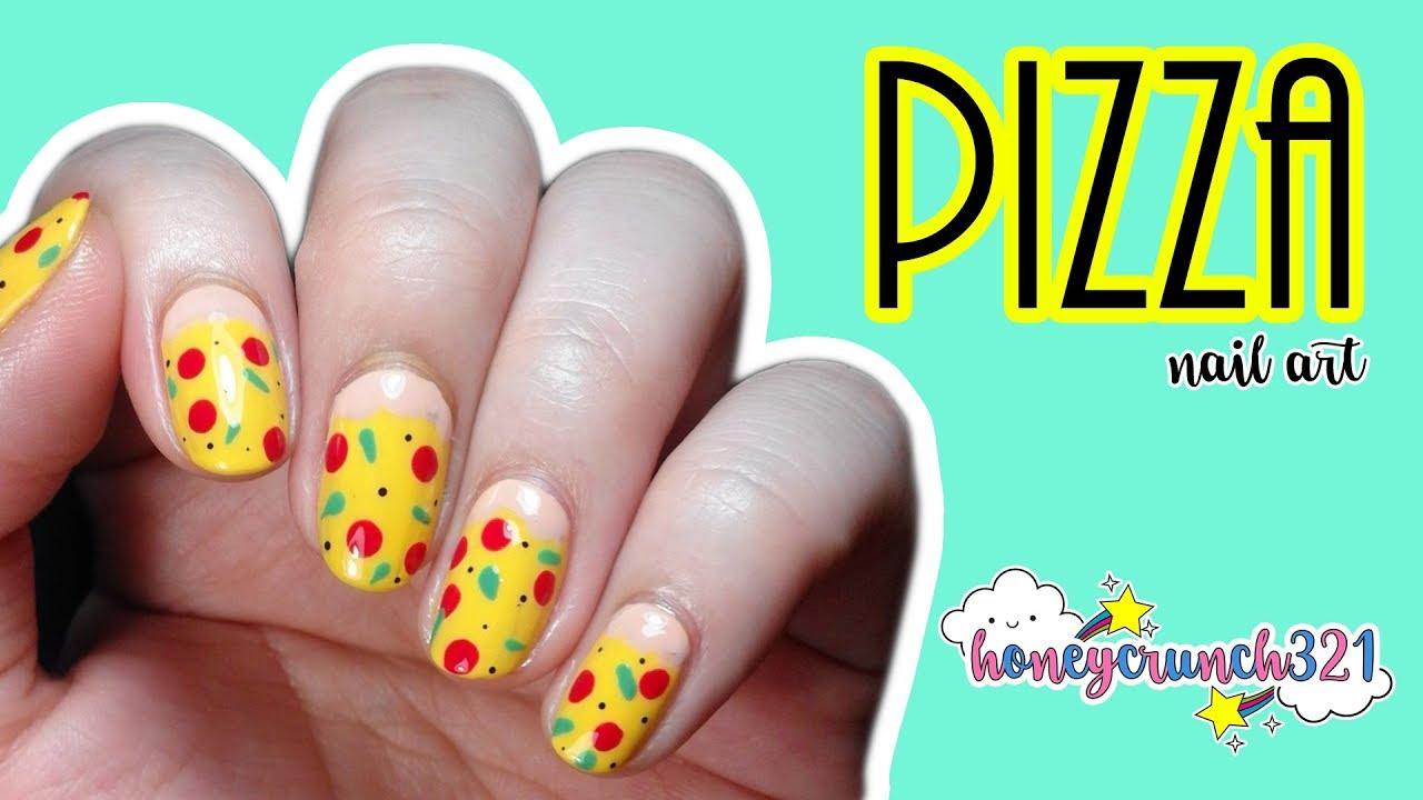 Pizza Nail Art | honeycrunch321 - YouTube