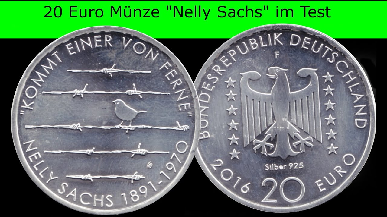 20 Euro Münze Nelly Sachs Im Test Youtube