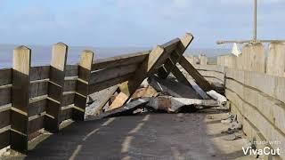 Aftermath of Storm Ciara at Westward ho!