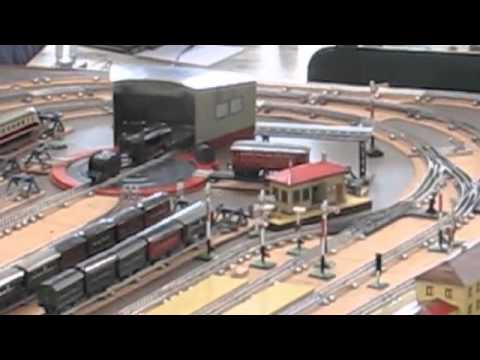 Vintage Marklin O Scale German Toy Train Layout from the 1930's