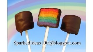 Cake Pops with Rainbow Stripes by SparkedIdeas