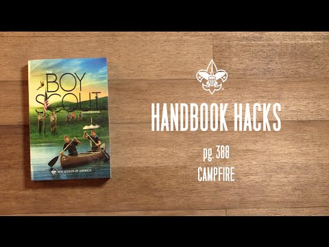 Build a Campfire – Boy Scouts of America Handbook Hacks