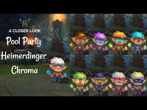 Pool Party Heimerdinger Chromas