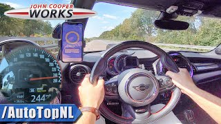 MINI JCW 231HP TOP SPEED on AUTOBAHN (NO SPEED LIMIT) by AutoTopNL