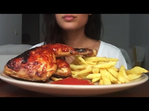 Eating Bbq Chicken Fries Eating Sounds Asmr Eating Show