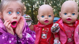 😱Will the Baby Doll Twins SURVIVE WILDERNESS CAMPING⁉️🏕