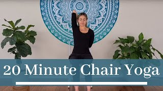 20 Minute Chair Yoga | Easy Office Yoga for Beginners