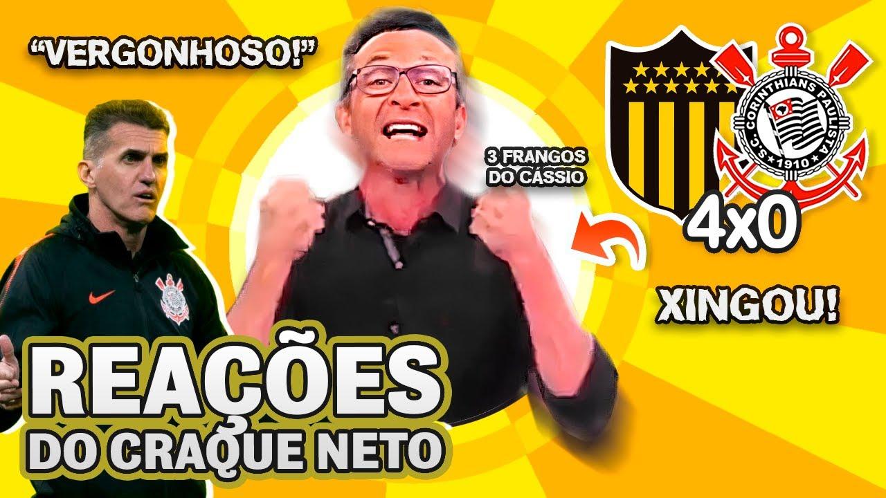 ELIMINADO! OLHA como o Craque Neto reagiu a Peñarol 4x0 Corinthians na Copa Sul-Americana