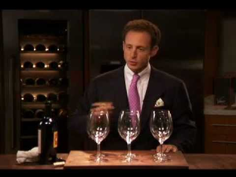How to pour wine into a Riedel Glass