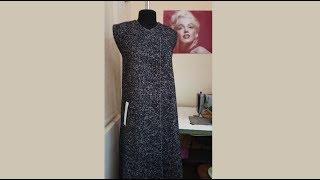 Обработка прорезного кармана с листочкой на пальто из буклированной ткани