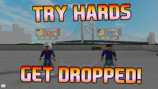 TRY HARDS GET DROPPED! [RB WORLD 2 ROBLOX]