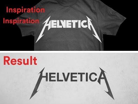 Turning Helvetica Font Into Metallica Logo YouTube