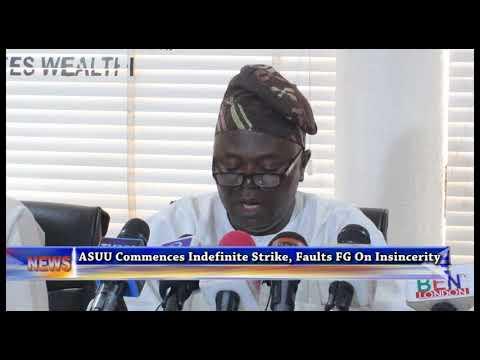 ASUU Commence Indefinite Strike, Faults FG On Insincerity