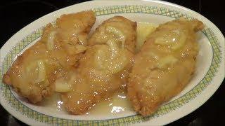 Pollo al limon, plato oriental, paso a paso.