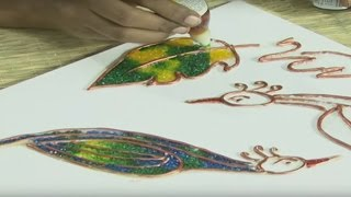 Jaal Painting - How to Paint Jaal Painting - Beginners Painting Lessons