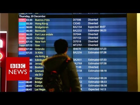 Gatwick runway open after drone chaos - BBC News