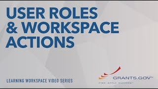 Learning Workspace - User Roles and Workspace Actions