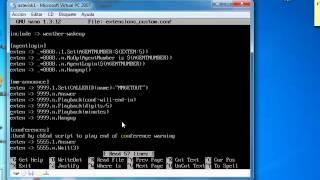 Configuracion de asterisk por comandos