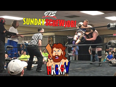 HACKSAW JIM DUGGAN TEAMS W/ GRIM AT SWF INDY WRESTLING TAG TEAM MATCH!