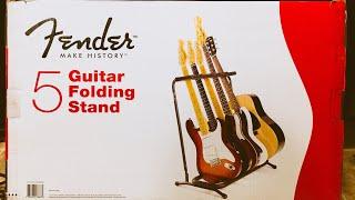 Assembling A Fender 5 Guitar Folding Stand.