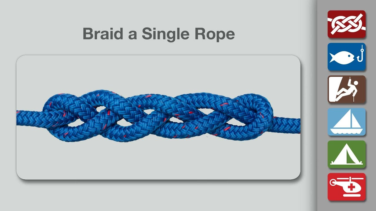 how to braid a single rope youtube