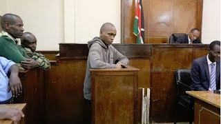Moi University student Ivy Wangeci's murder suspect Naftali Kinuthia speaks to the court