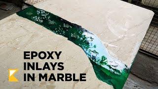 Baixar Epoxy Marble table with Inlays