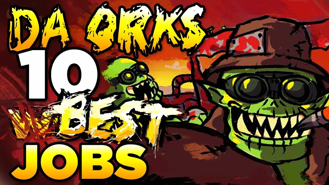 The Ork S 10 Best Worst Jobs Warhammer 40 000 Lore History