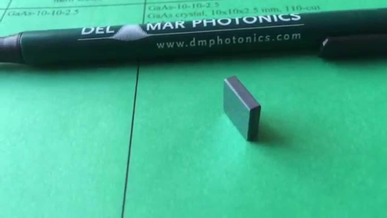 Gallium Arsenide Gaas Crystal For Quantum Optoelectronics Sales Doping Process Salesdmphotonicscom