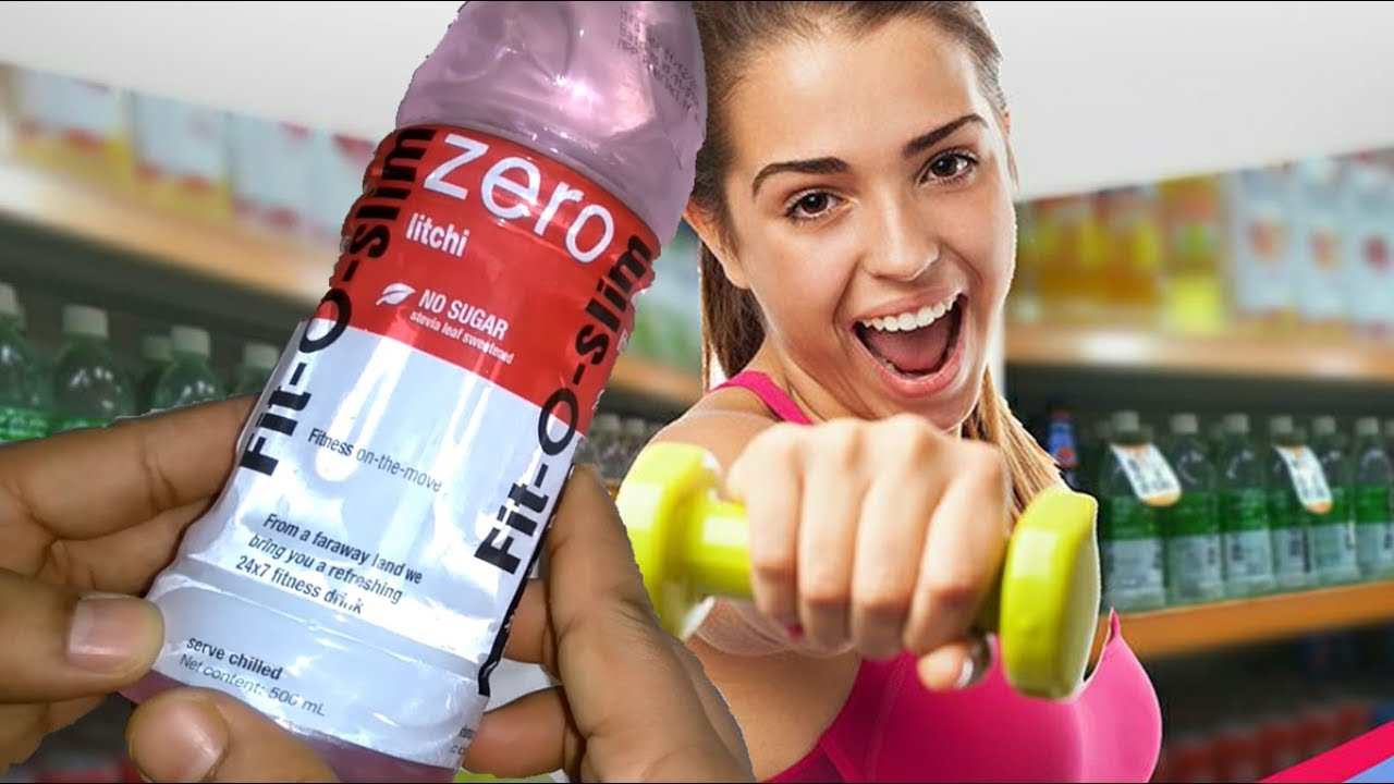 Fit O Slim Litchi Product details | UNboxing Fit-O-Slim Zero Soft Drink