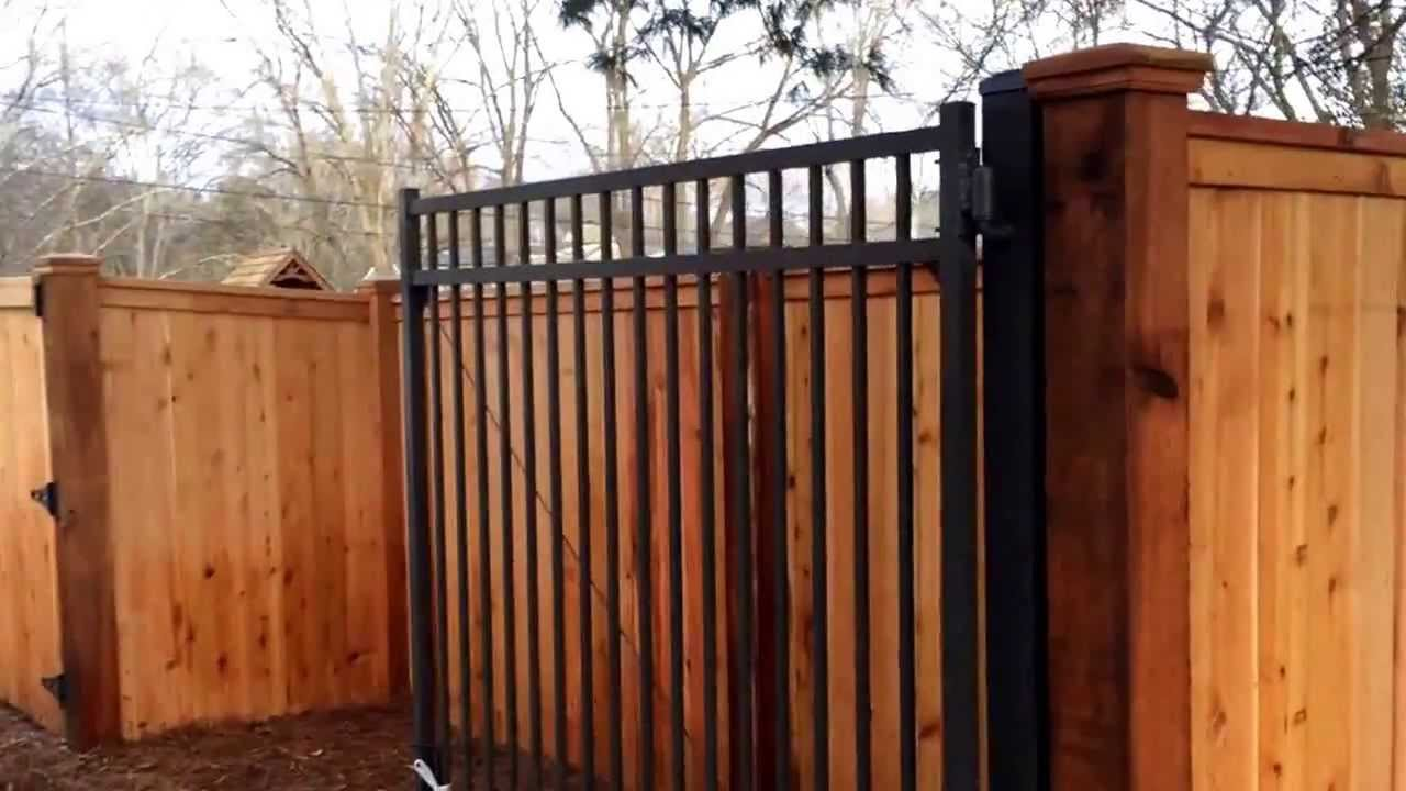 6 foot cedar cap and trim privacy fence in nashville tn