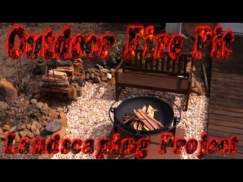 Outdoor Fire Pit Landscaping Project