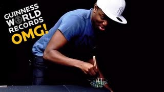 Marbles + Chopsticks = Record? - LIVE Special Highlights - Guinness World Records: OMG!