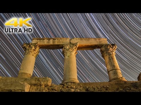 Ancient Greece - Corinthian Temples Under the Night Sky (4K