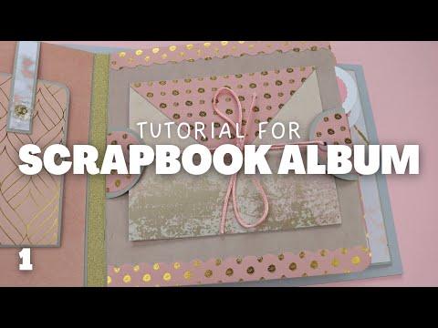 Scrapbook Album Tutorial Part 1   Blush Pink Mini Album