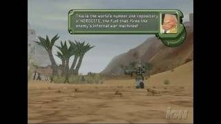 Battalion Wars GameCube Gameplay - Full-scale desert battle