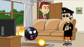Flame Chomp Gets Detention At His House