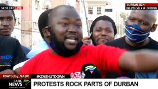 KZN Shutdown I Protestors vow to continue until Zuma is released
