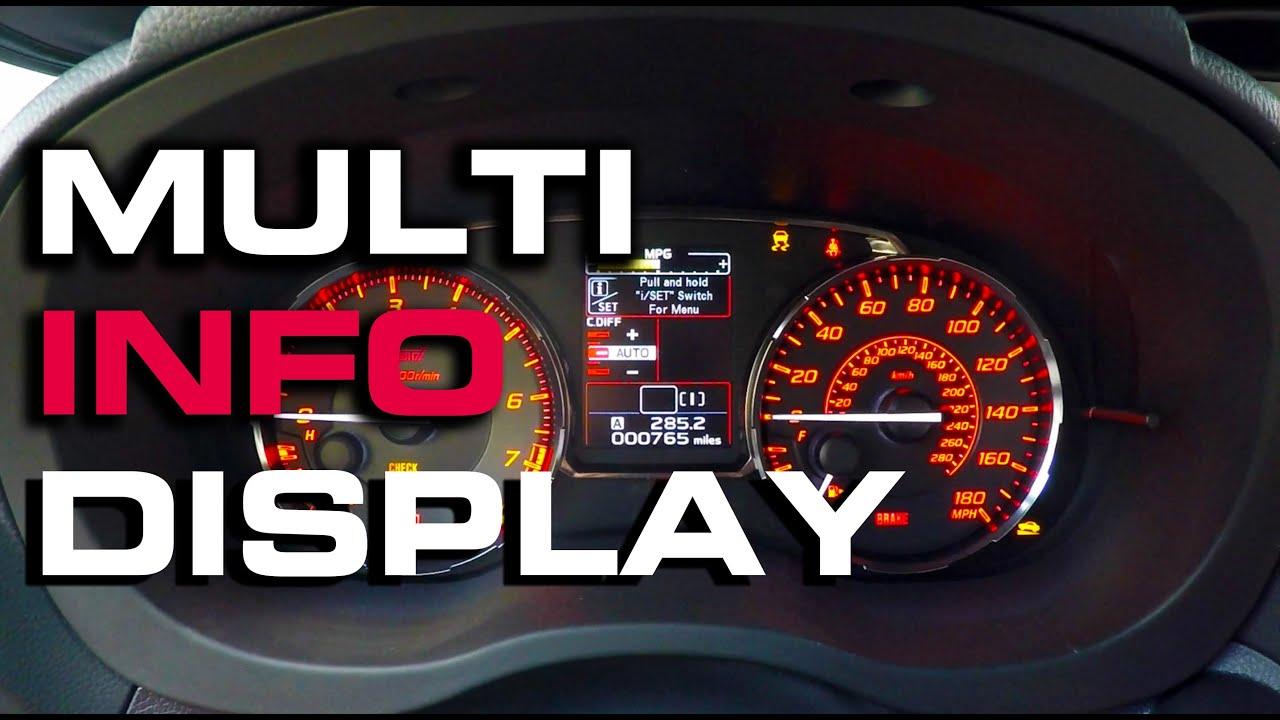 2016 subaru sti multi information display setup [ 1280 x 720 Pixel ]