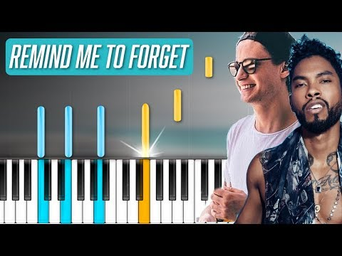"Kygo & Miguel - ""Remind Me To Forget"" Piano Tutorial - Chords - How To Play - Cover"