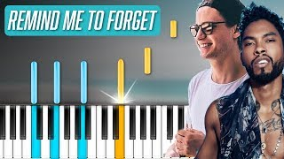 """Kygo & Miguel - """"Remind Me To Forget"""" Piano Tutorial - Chords - How To Play - Cover"""