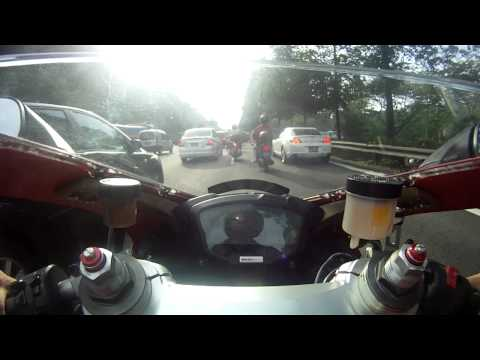Ducati 848 Evo From Jurong West to Novena (Singapore)