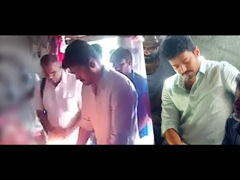 VIDEO:Vijay visits Anitha's house to pay condolence  Topper who fought against NEET