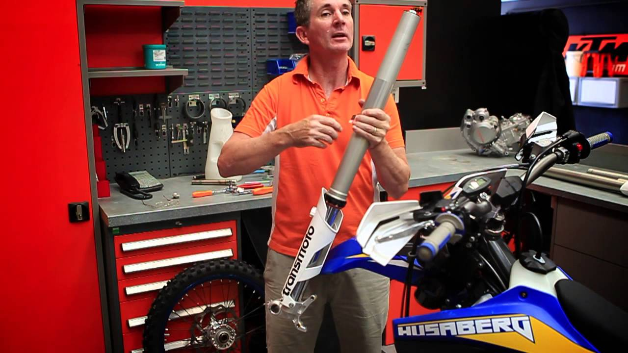 Wp s 4cs fork with ktm australia s rob twyerould