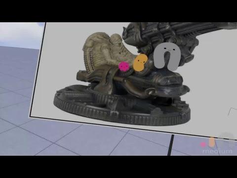 VR Sculpting - Space Jockey (Alien) in Oculus Medium