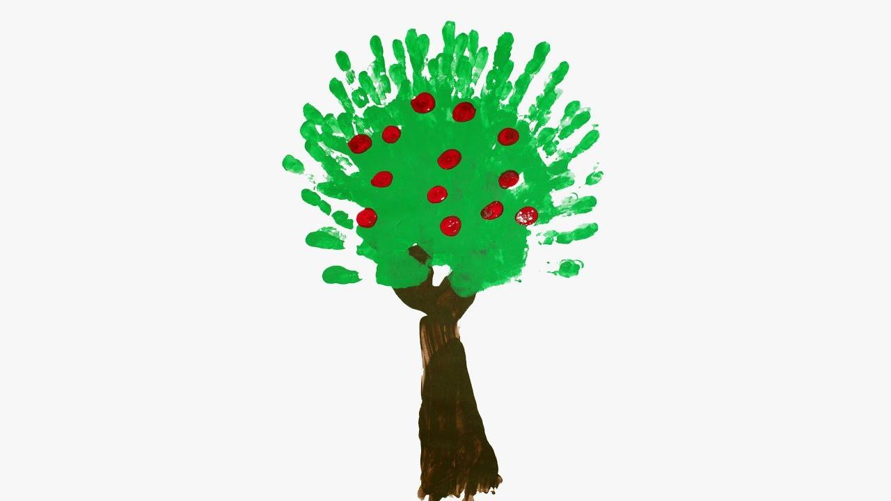 Peinture au doigt arbre fruitier youtube for Arbre fruitier