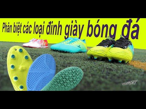 Phân biệt các loại đế giày bóng đá.
